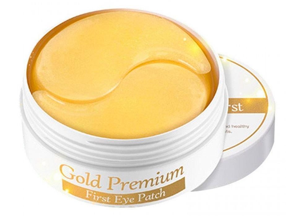 Гидрогелевые патчи под глаза с коллоидным золотом Secret Key Gold Premium First Eye Patch, 60шт - Фото №2