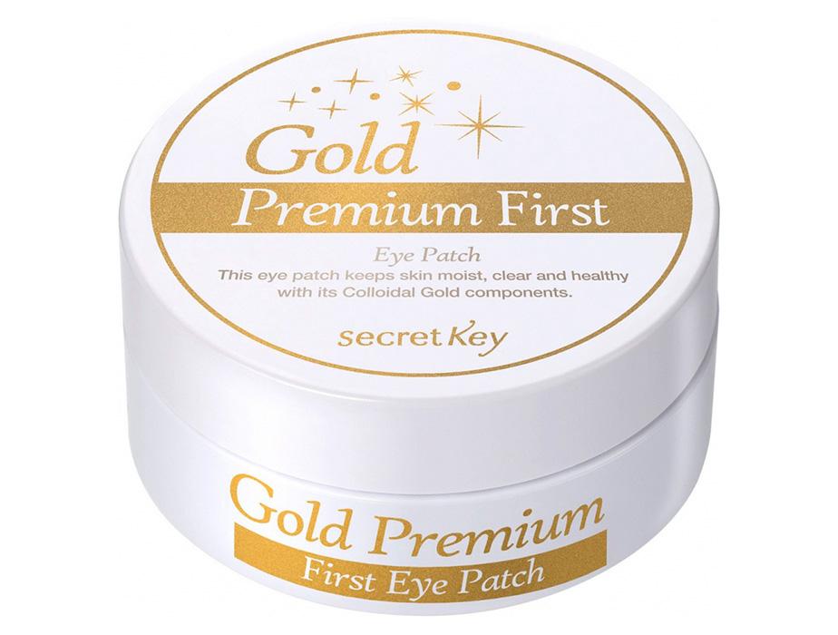 Гидрогелевые патчи под глаза с коллоидным золотом Secret Key Gold Premium First Eye Patch, 60шт - Фото №4