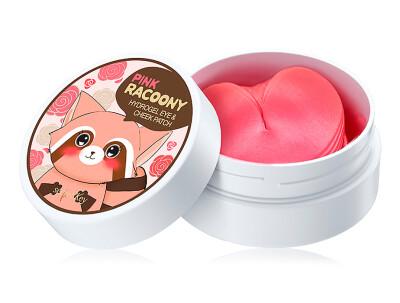 Гидрогелевые патчи под глаза и для щек с розой Secret Key Pink Racoony Hydrogel Eye & Cheek Patch, 60шт