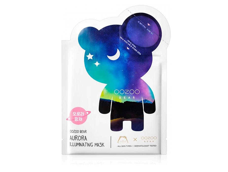 Маска для сияния кожи лица The Oozoo Bear Aurora Illuminating Mask