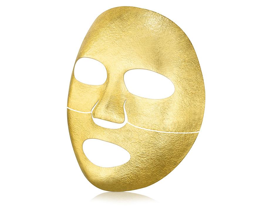 Золотая экспресс-маска для лица с термоэффектом The Oozoo Face Gold Foilayer Mask - Фото №3