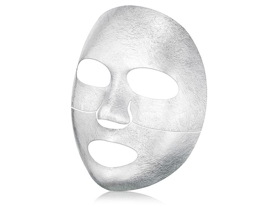 Серебряная экспресс-маска для лица с термоэффектом The Oozoo Face Silver Foilayer Mask - Фото №3