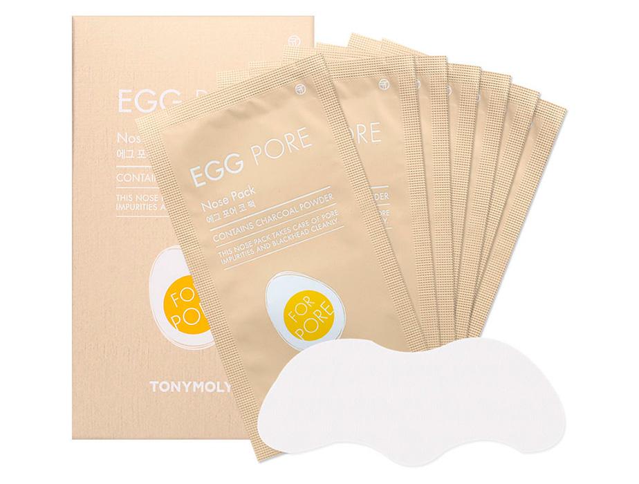 Очищающие полоски для носа от черных точек Tony Moly Egg Pore Nose Pack, 1шт - Фото №2