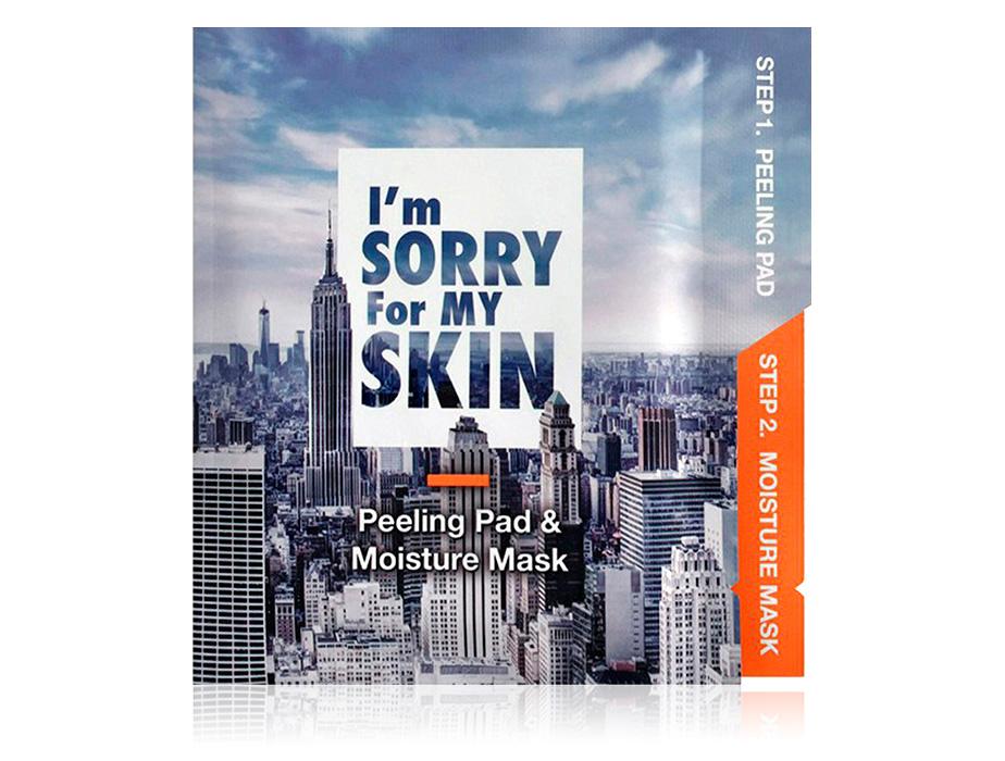 Маска для лица пилинг и увлажнение Ultru I'm Sorry For My Skin Peeling Pad & Moisture Mask