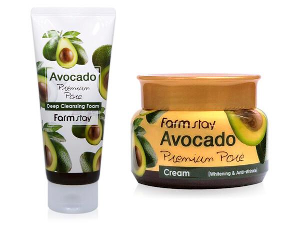 Набор для ухода за кожей лица «Авокадо» FarmStay - Фото №1