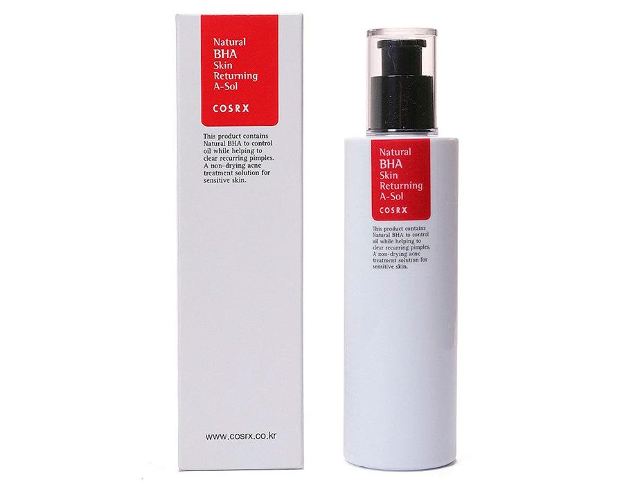 Тонер-сыворотка для проблемной кожи с прополисом и BHA-кислотами Cosrx Natural BHA Skin Returning A-Sol, 100мл - Фото №2