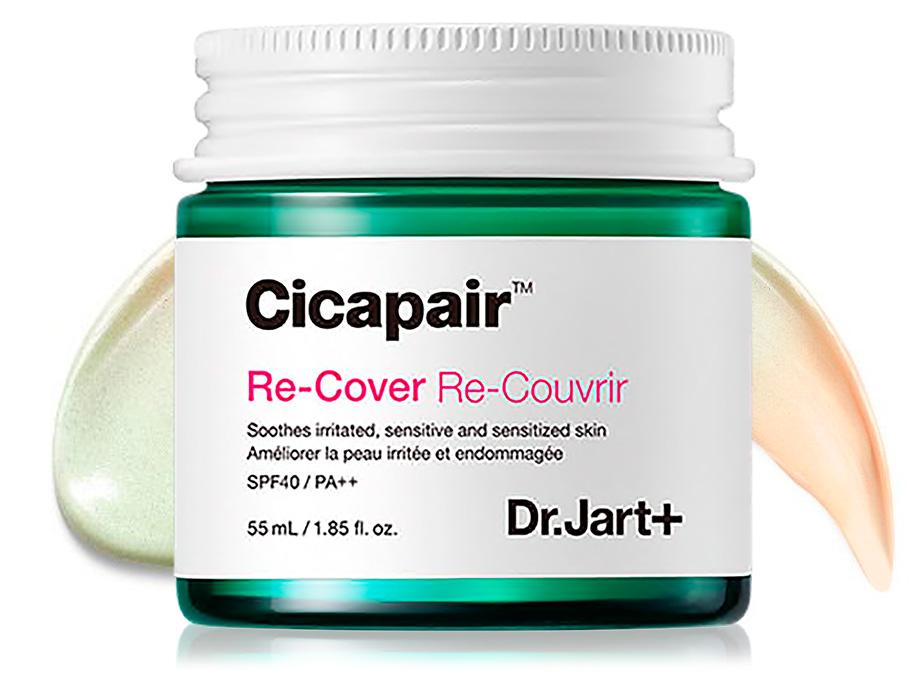 Регенерирующий СС крем-антистресс для коррекции цвета лица Dr. Jart+ Cicapair Re-Cover SPF 40, 55мл - Фото №1