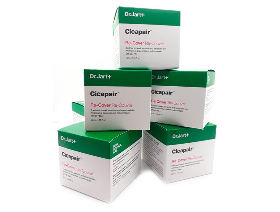 Регенерирующий СС крем-антистресс для коррекции цвета лица Dr. Jart+ Cicapair Re-Cover SPF 40, 55мл - Фото №4