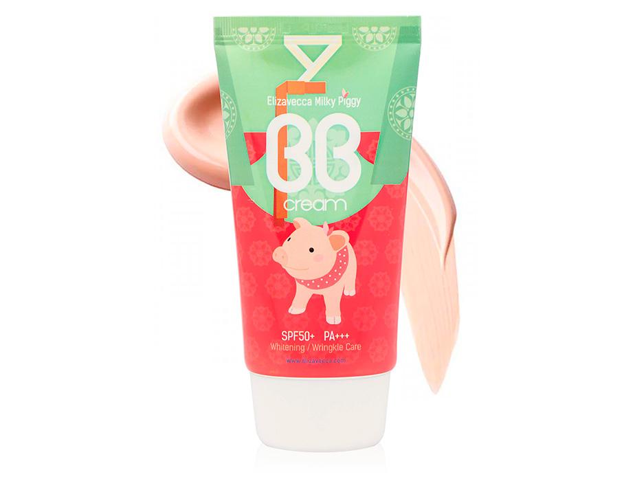 Увлажняющий BB крем с гиалуроновой кислотой Elizavecca Milky Piggy BB Cream SPF 50+, 50мл - Фото №1