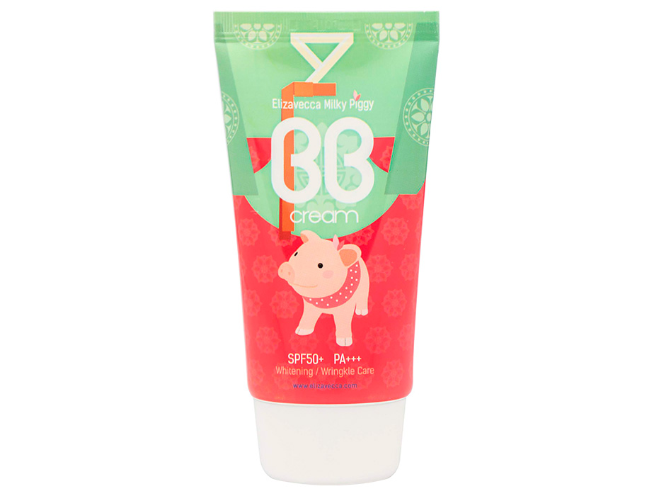 Увлажняющий BB крем с гиалуроновой кислотой Elizavecca Milky Piggy BB Cream SPF 50+, 50мл - Фото №2