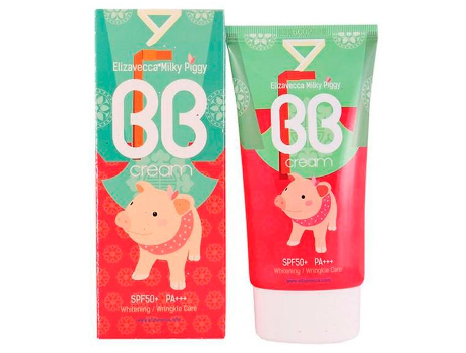 Увлажняющий BB крем с гиалуроновой кислотой Elizavecca Milky Piggy BB Cream SPF 50+, 50мл - Фото №3
