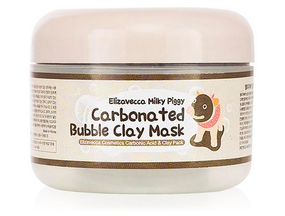 Очищающая кислородная маска для лица на основе глины Elizavecca Milky Piggy Carbonated Bubble Clay Mask, 100мл - Фото №1