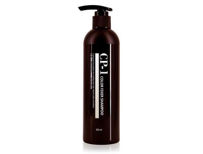 Шампунь для защиты цвета окрашенных и тонированных волос Esthetic House CP-1 Color Fixer Shampoo, 300мл - Фото №1