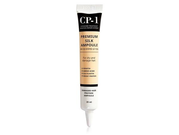 Несмываемая сыворотка для волос с протеинами шелка Esthetic House CP-1 Premium Silk Ampoule, 20мл - Фото №1