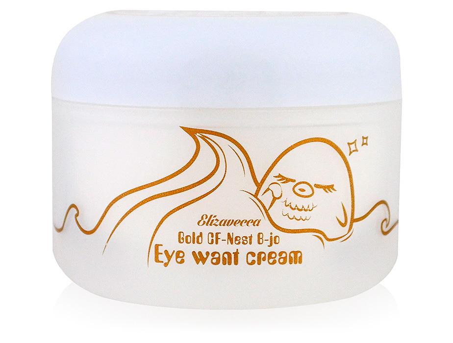 Крем для глаз с экстрактом ласточкиного гнезда Elizavecca Face Care Gold CF-Nest B-jo Eye Want Cream, 100г - Фото №1