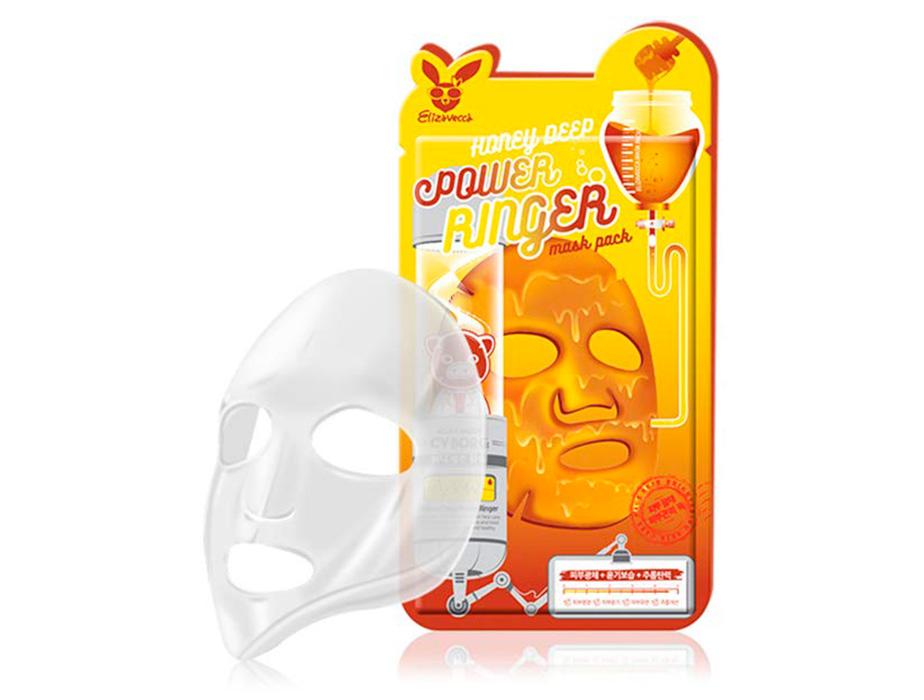 Питательная маска для лица с экстрактом мёда Elizavecca Honey Deep Power Ringer Mask