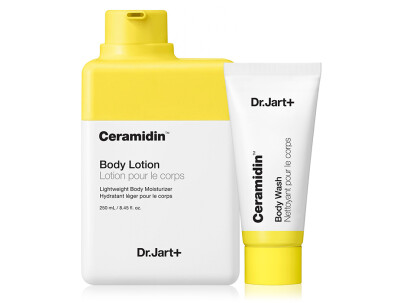 Набор: Лосьон для тела с керамидами + Гель для душа Dr. Jart+ Ceramidin Body Lotion + Ceramidin Body Wash, 250мл + 30мл - Фото №1
