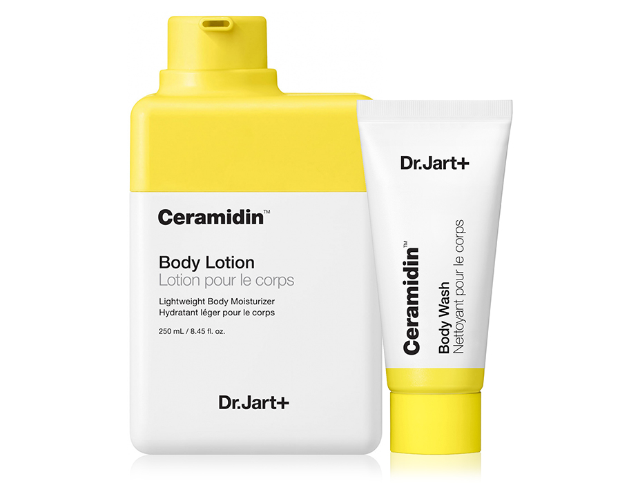 Набор: Лосьон для тела с керамидами + Гель для душа Dr. Jart+ Ceramidin Body Lotion + Ceramidin Body Wash, 250мл + 30мл - Фото №1