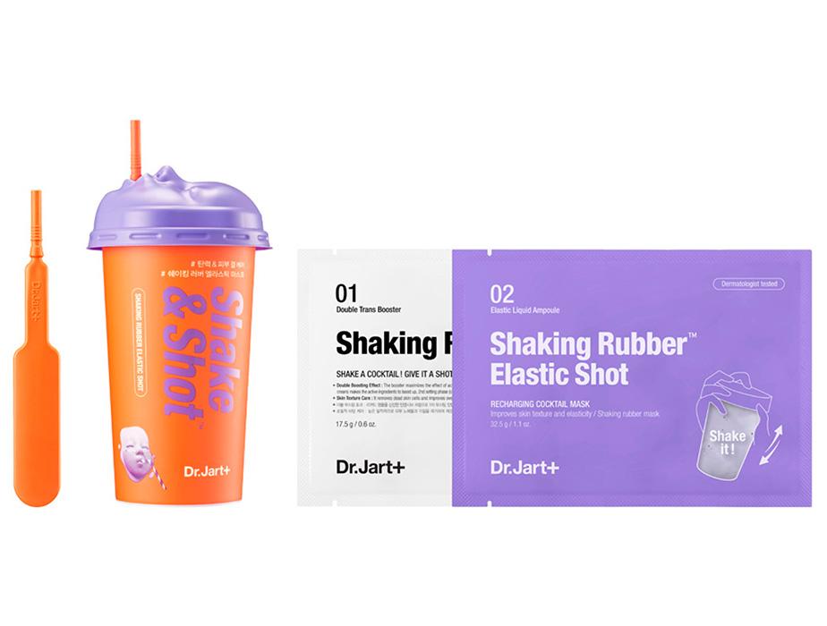 Придающая упругость альгинатная маска для лица Dr. Jart+ Shake & Shot Rubber Elastic Mask, 40мл - Фото №2