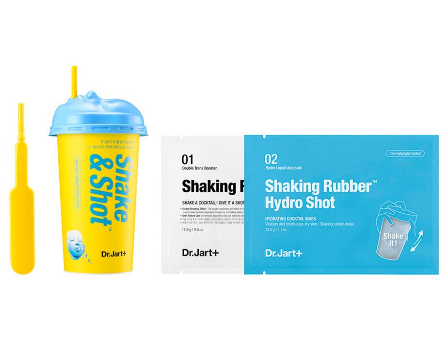 Увлажняющая альгинатная маска для лица Dr. Jart+ Shake & Shot Rubber Hydro Mask, 40мл - Фото №2