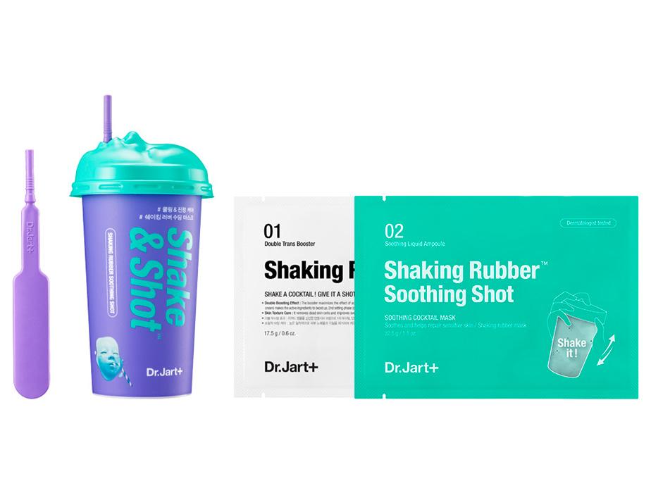 Успокаивающая альгинатная маска для лица Dr. Jart+ Shake & Shot Rubber Soothing Mask, 40мл - Фото №2