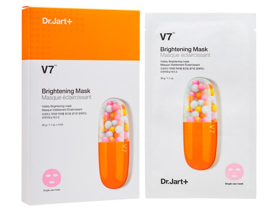 Осветляющая маска для лица с витаминным комплексом Dr. Jart+ V7 Brightening Mask - Фото №2