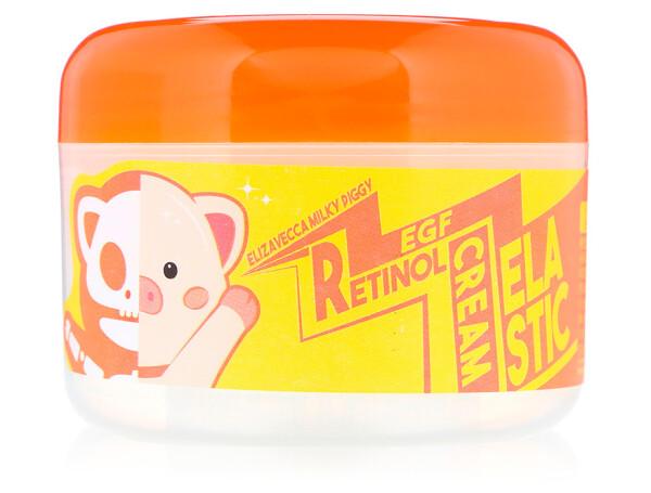 Антивозрастной крем для лица Elizavecca Milky Piggy EGF Elastic Retinol Cream, 100г - Фото №1