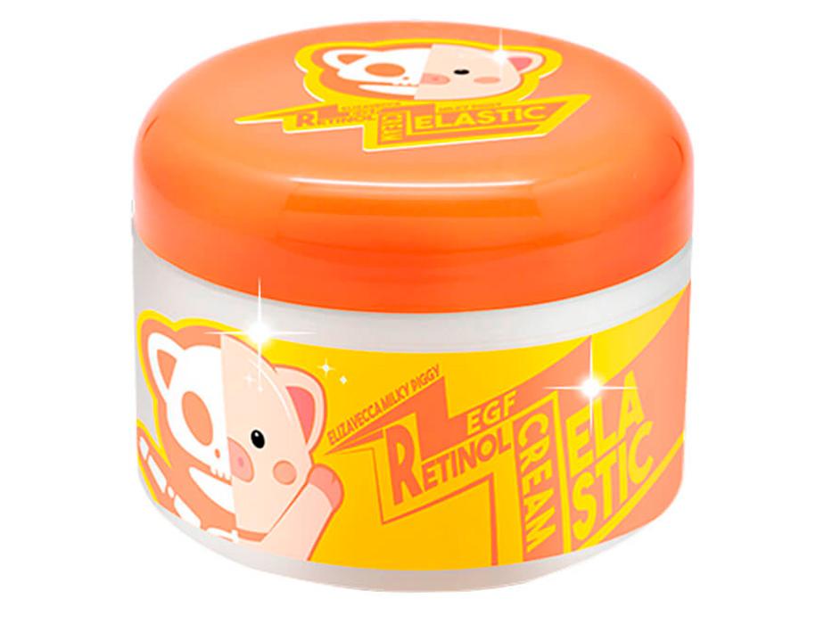 Антивозрастной крем для лица Elizavecca Milky Piggy EGF Elastic Retinol Cream, 100г - Фото №2