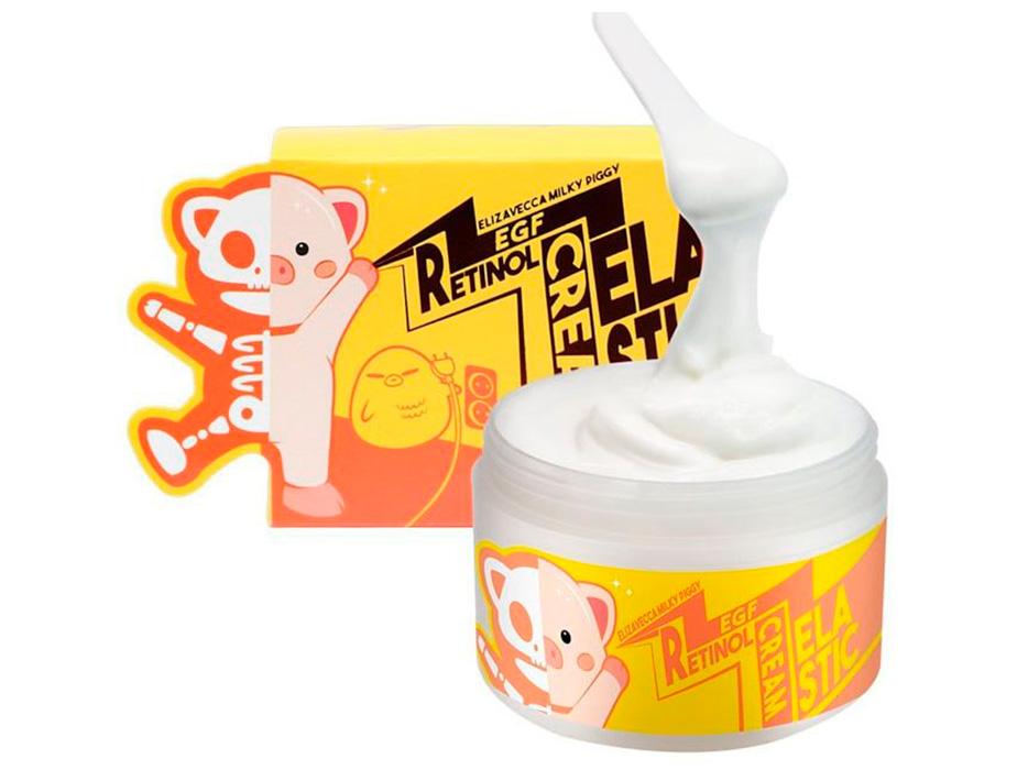 Антивозрастной крем для лица Elizavecca Milky Piggy EGF Elastic Retinol Cream, 100г - Фото №3