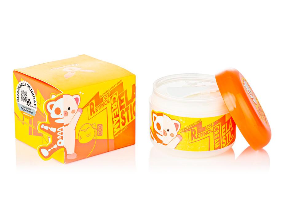 Антивозрастной крем для лица Elizavecca Milky Piggy EGF Elastic Retinol Cream, 100г - Фото №4