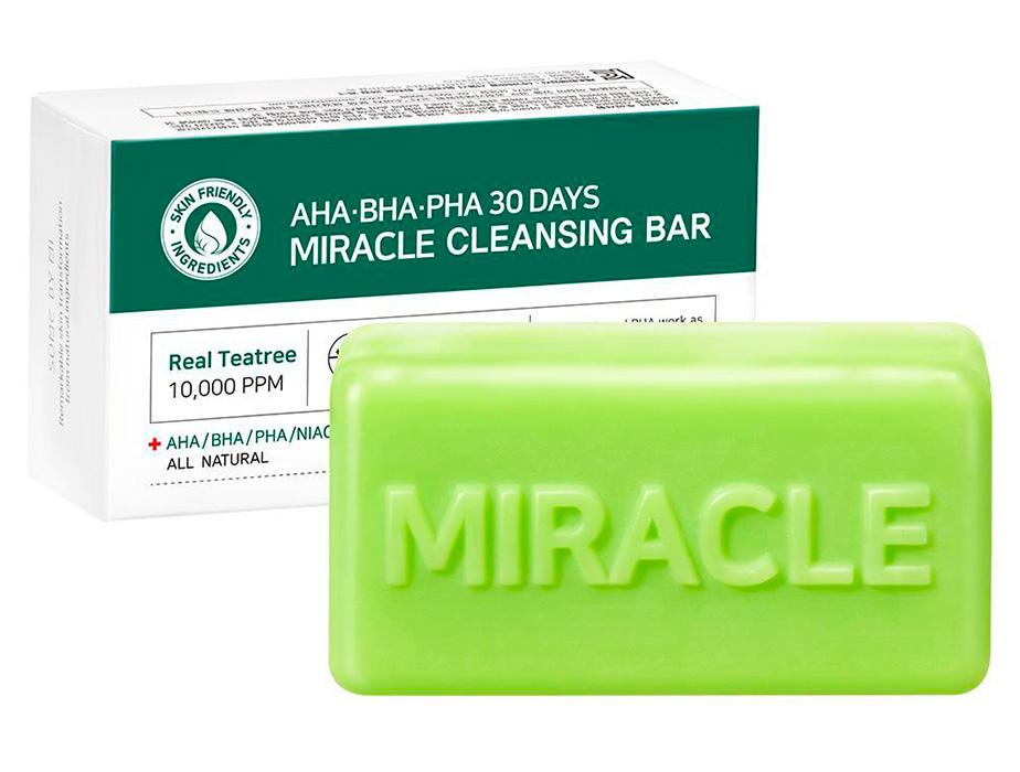 Кислотное очищающее мыло для проблемной кожи Some By Mi AHA-BHA-PHA 30 Days Miracle Cleansing Bar, 106г - Фото №2