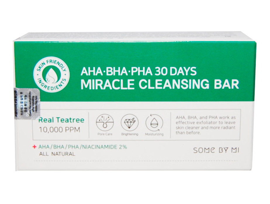 Кислотное очищающее мыло для проблемной кожи Some By Mi AHA-BHA-PHA 30 Days Miracle Cleansing Bar, 106г - Фото №3