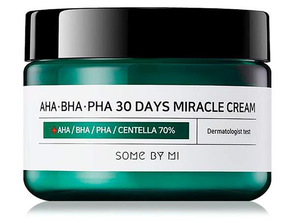 Восстанавливающий крем для проблемной кожи Some By Mi AHA-BHA-PHA 30 Days Miracle Cream, 50мл - Фото №1