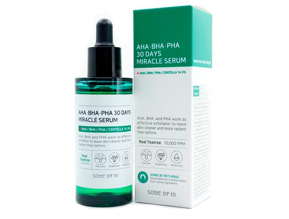 Кислотная сыворотка для проблемной кожи Some By Mi AHA-BHA-PHA 30 Days Miracle Serum, 50мл - Фото №2