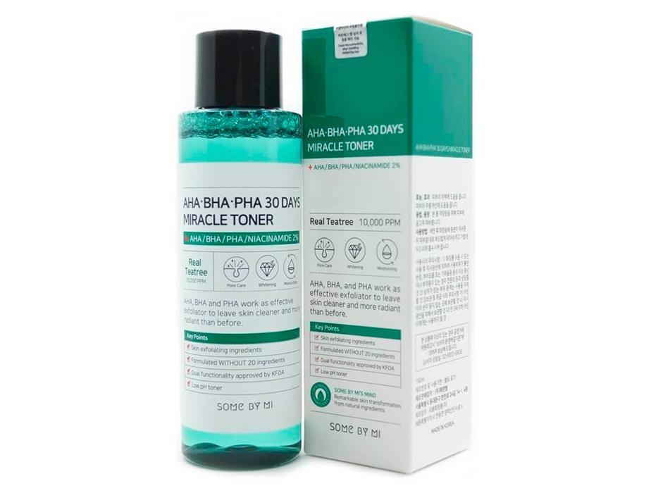 Кислотный очищающий тонер для проблемной кожи Some By Mi AHA-BHA-PHA 30 Days Miracle Toner, 150мл - Фото №2