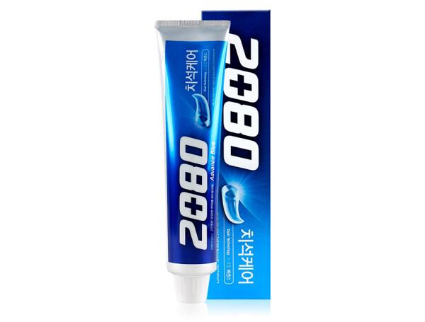 Отбеливающая зубная паста Aekyung 2080 Advance Blue Toothpaste Scrub Essence, 120г - Фото №1