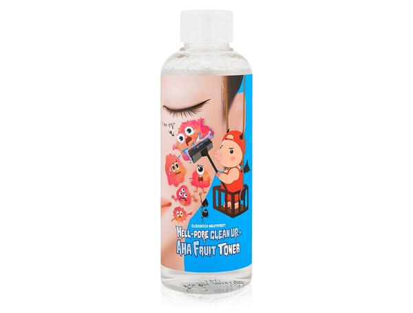Пилинг-тонер с фруктовыми кислотами Elizavecca Milky Piggy Hell-Pore Clean Up AHA Fruit Toner, 200мл - Фото №1