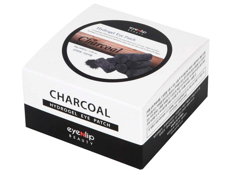 Гидрогелевые патчи под глаза с порошком древесного угля Eyenlip Charcoal Hydrogel Eye Patch, 60шт - Фото №3