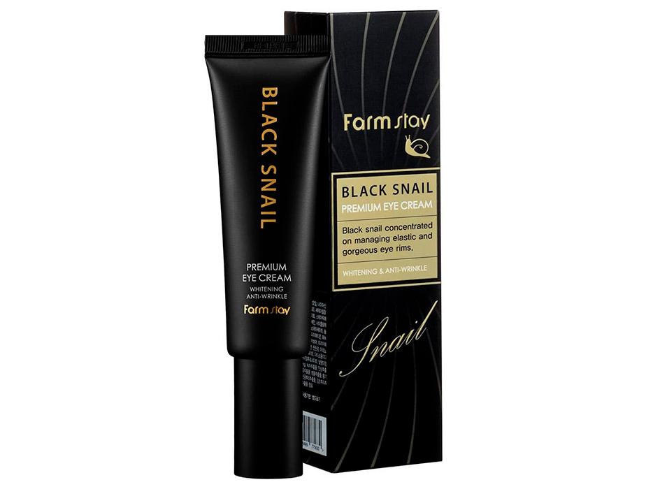 Крем для глаз с муцином черной улитки FarmStay Black Snail Premium Eye Cream, 50мл - Фото №2