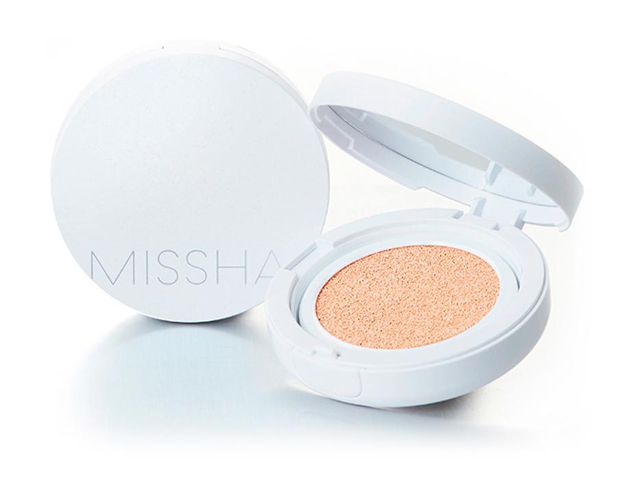 Тональная основа кушон Missha Magic Cushion Cover Lasting SPF 50+ PA+++ №21, 15г - Фото №4