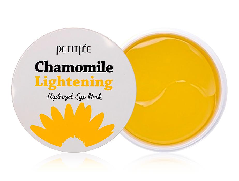 Гидрогелевые осветляющие патчи под глаза с экстрактом ромашки Petitfee Chamomile Lightening Hydrogel Eye Mask, 60шт - Фото №1