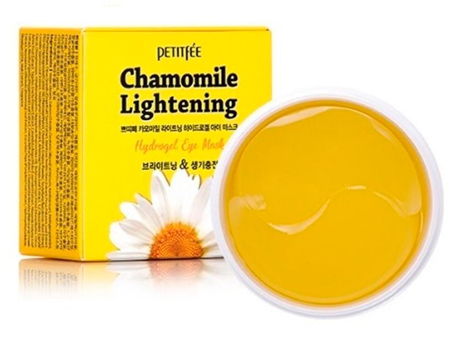 Гидрогелевые осветляющие патчи под глаза с экстрактом ромашки Petitfee Chamomile Lightening Hydrogel Eye Mask, 60шт - Фото №2