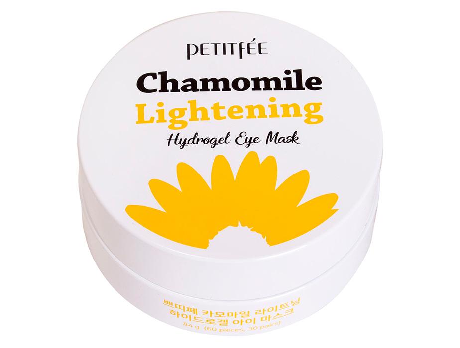 Гидрогелевые осветляющие патчи под глаза с экстрактом ромашки Petitfee Chamomile Lightening Hydrogel Eye Mask, 60шт - Фото №3