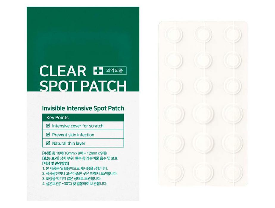 Противовоспалительные гидроколлоидные патчи от акне Some By Mi Clear Spot Patch, 18шт - Фото №2