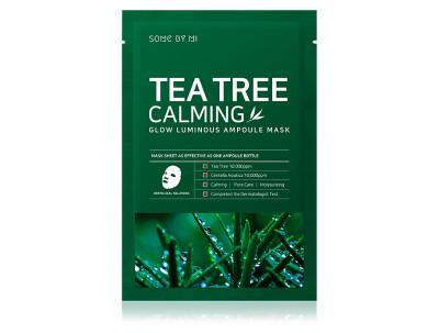 Успокаивающая маска для лица с чайным деревом Some By Mi Tea Tree Calming Glow Luminous Ampoule Mask - Фото №1
