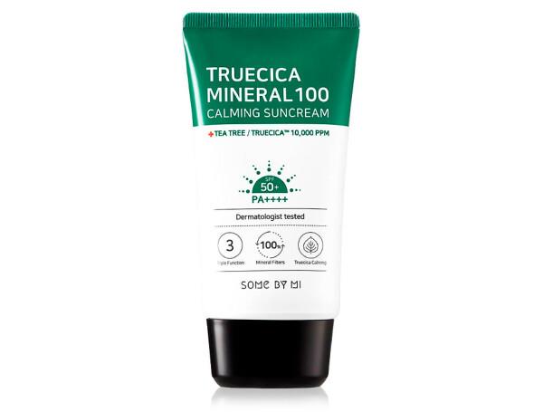 Солнцезащитный крем для лица Some By Mi Truecica Mineral 100 Calming SunCream SPF 50, 80мл - Фото №1