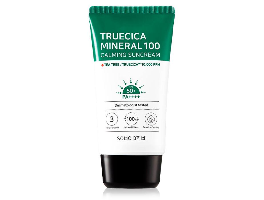 Солнцезащитный крем для лица Some By Mi Truecica Mineral 100 Calming SunCream SPF 50, 80мл