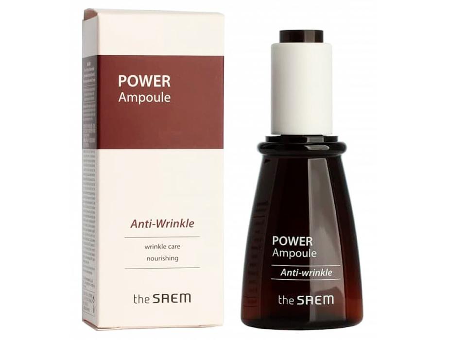 Антивозрастная ампульная эссенция The Saem Power Ampoule Anti-Wrinkle, 35мл - Фото №2