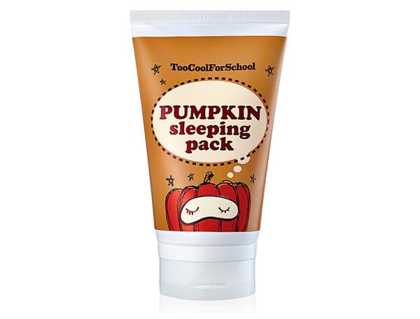 Ночная маска для лица с экстрактом тыквы Too Cool For School Pumpkin Sleeping Pack, 100мл - Фото №1