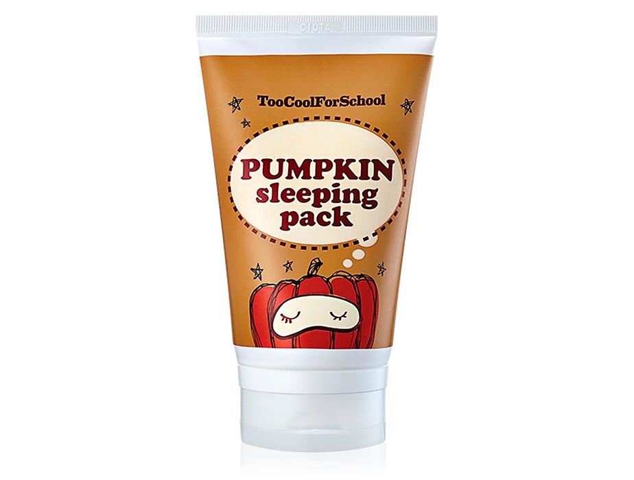 Ночная маска для лица с экстрактом тыквы Too Cool For School Pumpkin Sleeping Pack, 100мл